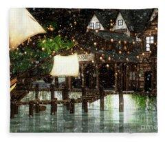 Wintery Inn Fleece Blanket