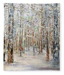 Wintry Woods Fleece Blanket