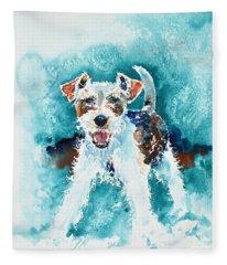 Wire Fox Terrier Fleece Blanket