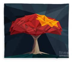 Wired Tree  Fleece Blanket