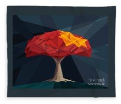 Wired Tree  Fleece Blanket