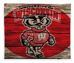 Wisconsin Badgers Barn Door Fleece Blanket