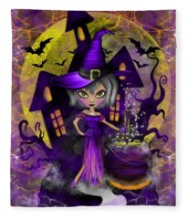 Wisdom Witch Fantasy Art Fleece Blanket