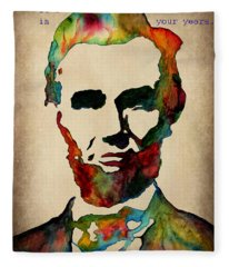 Wise Abraham Lincoln Quote Fleece Blanket