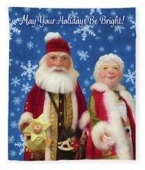Wishing You Bright Holidays Fleece Blanket