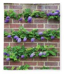 Wisteria Frutescens Longwood Purple Fleece Blanket