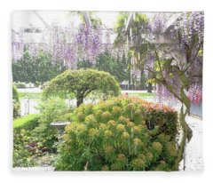 Wisteria In Hailstorm Fleece Blanket