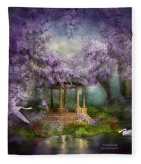 Wisteria Lake Fleece Blanket