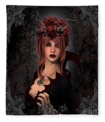 Witch Beauty Fleece Blanket