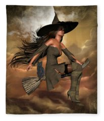 Witch Way  Fleece Blanket