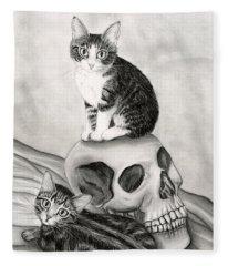 Witch's Kittens Fleece Blanket