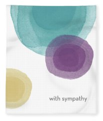 With Sympathy Circles- Art By Linda Woods Fleece Blanket