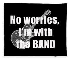 With The Band Tee Fleece Blanket
