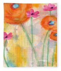 With The Breeze- Art By Linda Woods Fleece Blanket