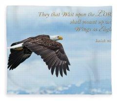 With Wings As Eagles Fleece Blanket