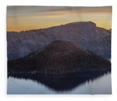 Wizard Island Morning Fleece Blanket