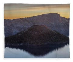 Wizard Island Morning Fleece Blanket
