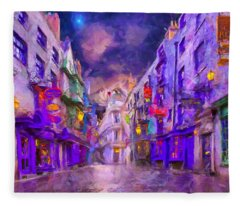 Wizard Mall Fleece Blanket
