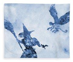 Wizard Of Oz-blue Fleece Blanket