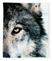 Wolf Art - Timber Fleece Blanket