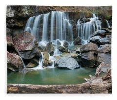 Wolf Creek Falls Fleece Blanket