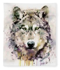 Wolf Head Fleece Blanket