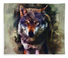 Wolf Timber Fleece Blanket