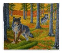 Wolf's Forest Fleece Blanket