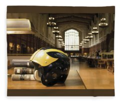 Wolverine Helmet In Law Library Fleece Blanket
