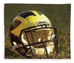 Wolverine Helmet In Morning Sunlight Fleece Blanket