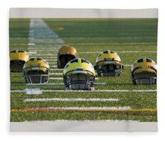Wolverine Helmets Throughout History On The Field Fleece Blanket