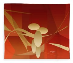 Woman And Passion Fleece Blanket