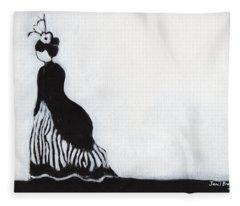 Woman At Victorian Festival In Port Townsend Fleece Blanket
