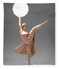 Woman Lamp Number Three Fleece Blanket