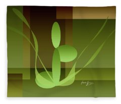 Woman On Peace With Nature Fleece Blanket