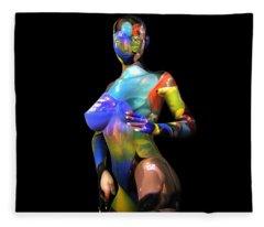 Studio Woman Render 16 Fleece Blanket