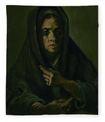 Woman With A Mourning Shawl Nuenen, March - May 1885 Vincent Van Gogh 1853 - 1890 Fleece Blanket