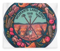 Womans Land Army Of America 1918 Suffragette Early Feminist Political Art Fleece Blanket