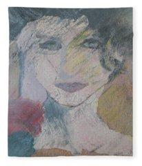 Woman's Portrait - Untitled Fleece Blanket