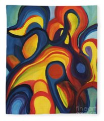 Women As Caregivers Fleece Blanket