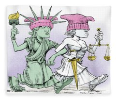 Women's March On Washington Fleece Blanket