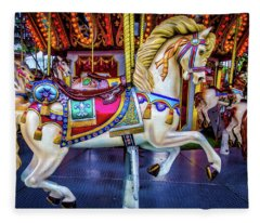 Wonderful Carrousel Horse Ride Fleece Blanket