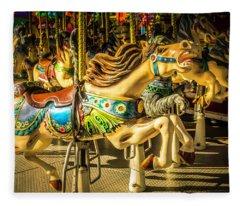 Wonderful Horse Ride Fleece Blanket