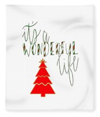 Wonderful Life Fleece Blanket