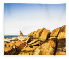 Wonderful West Coast Tasmania Fleece Blanket