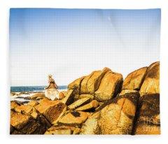 Wonderful West Coast Tasmania Fleece Blanket