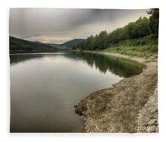 Wonderfully Calm Lake - Abendstimmung Am Diemelsee Fleece Blanket