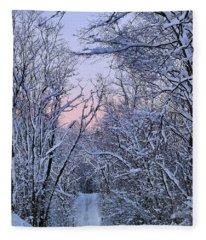 Wonderland Road Fleece Blanket