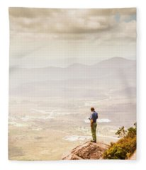 Wondrous Western Tasmania Fleece Blanket