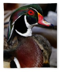 Wood Duck Cuteness Fleece Blanket